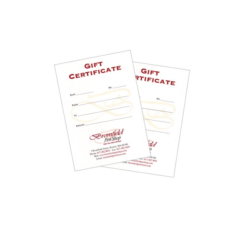 *Gift Certificates